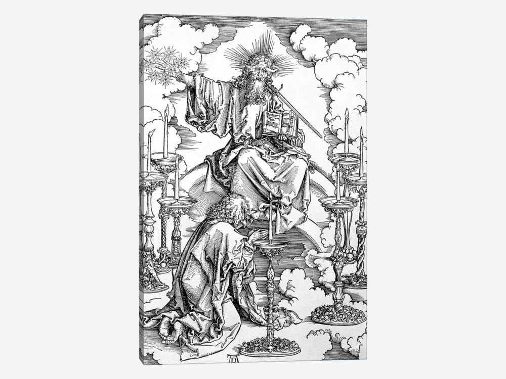 The Vision Of The Seven Candlesticks (Illustration From The Apocalypse) by Albrecht Dürer 1-piece Canvas Art Print