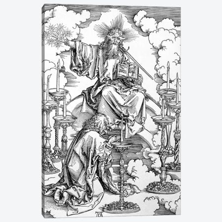 The Vision Of The Seven Candlesticks (Illustration From The Apocalypse) Canvas Print #BMN6602} by Albrecht Dürer Art Print