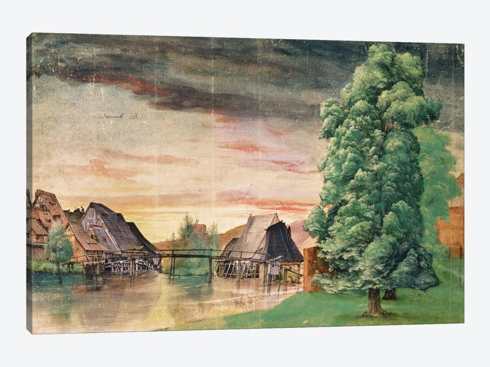 The Watermill, 1495-97 1-piece Canvas Wall Art