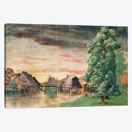 The Watermill, 1495-97 Canvas Print #BMN6603} by Albrecht Dürer Canvas Art Print