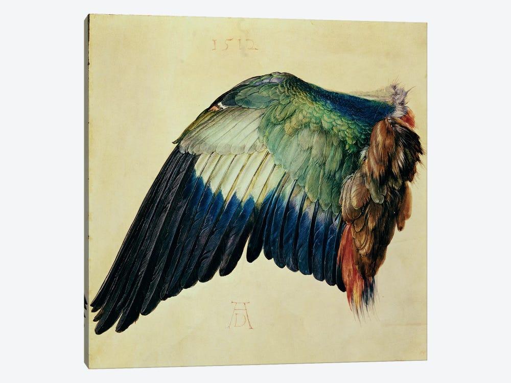 Wing Of A Blue Roller, 1512 by Albrecht Dürer 1-piece Canvas Artwork