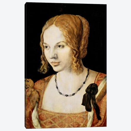 Young Venetian Woman Canvas Print #BMN6608} by Albrecht Dürer Art Print