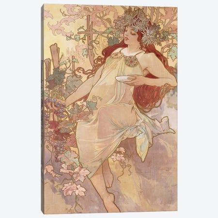 Autumn (Automne), c.1896 Canvas Print #BMN6609} by Alphonse Mucha Canvas Art Print