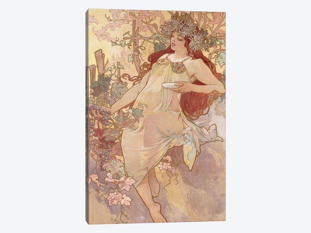 Autumn (Automne), c.1896 by Alphonse Mucha 1-piece Canvas Art