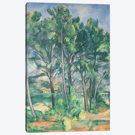 The Aqueduct  Canvas Print #BMN660} by Paul Cezanne Canvas Wall Art