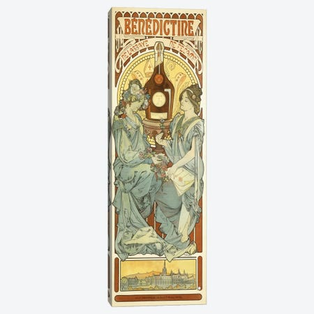Benedictine, 1898 Canvas Print #BMN6610} by Alphonse Mucha Canvas Art