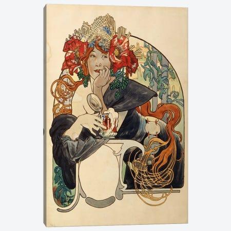 Bieres de La Meuse (Meuse Beer) Advertisement Draft Canvas Print #BMN6611} by Alphonse Mucha Canvas Art