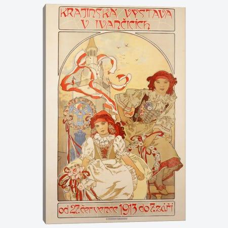 Krajinska Vystava V Ivancicich, 1913 Canvas Print #BMN6618} by Alphonse Mucha Canvas Art