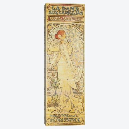 La Dame aux Camelias (Featuring Sarah Bernhardt), 1890-1910 Canvas Print #BMN6619} by Alphonse Mucha Canvas Wall Art