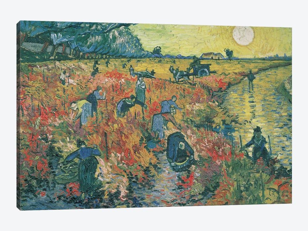 Red Vineyards at Arles, 1888  by Vincent van Gogh 1-piece Canvas Art