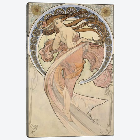 La Danse, 1898 Canvas Print #BMN6620} by Alphonse Mucha Canvas Art Print