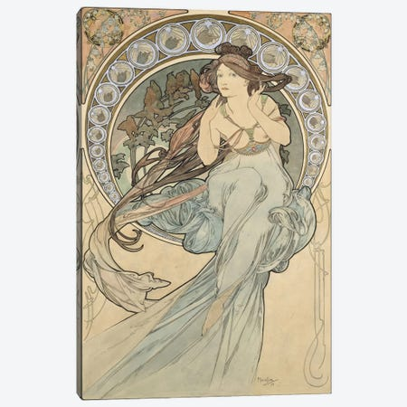 La Musique, 1898 Canvas Print #BMN6621} by Alphonse Mucha Canvas Print