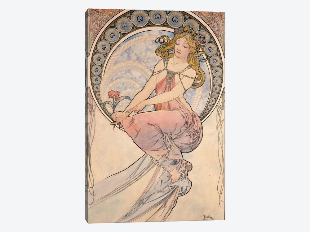 La Peinture, 1898 by Alphonse Mucha 1-piece Canvas Print