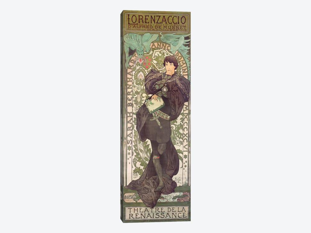 Lorenzaccio I (Featuring Sarah Bernhardt), 1896 by Alphonse Mucha 1-piece Canvas Artwork