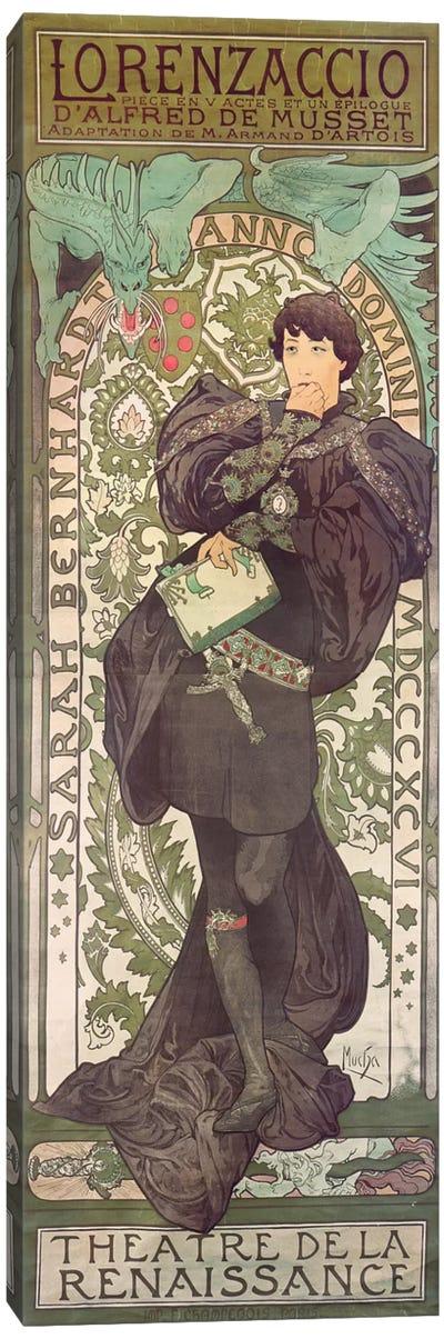 Lorenzaccio I (Featuring Sarah Bernhardt), 1896 Canvas Art Print