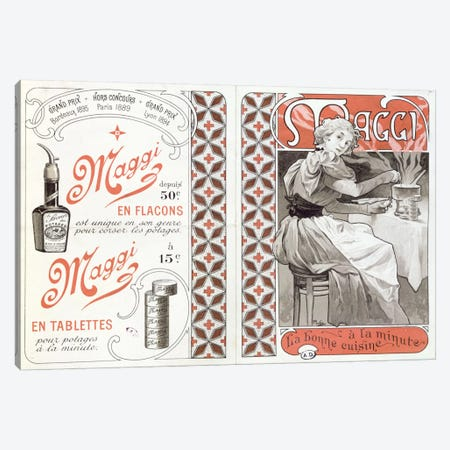 Maggi Advertisement Canvas Print #BMN6625} by Alphonse Mucha Canvas Artwork