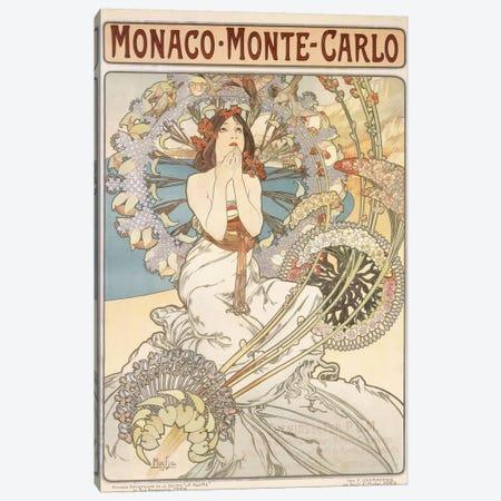 Monaco, Monte Carlo, 1897 Canvas Print #BMN6627} by Alphonse Mucha Canvas Wall Art