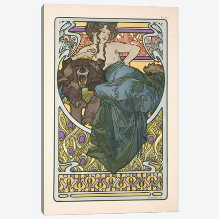 Plate 47 From Documents Decoratifs Canvas Print #BMN6628} by Alphonse Mucha Canvas Print