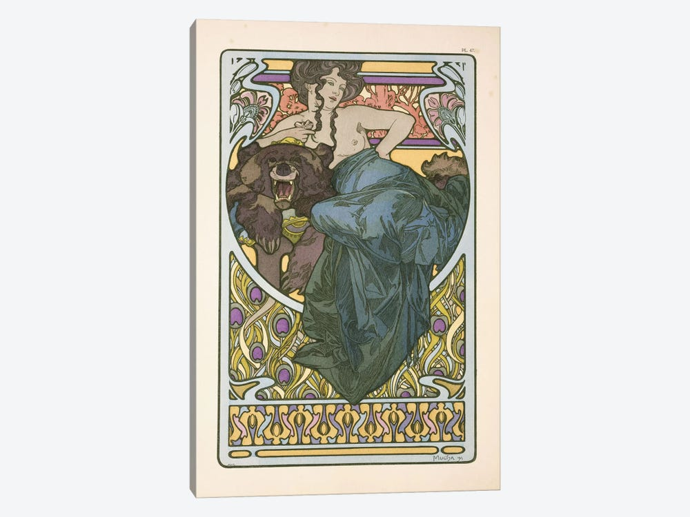 Plate 47 From Documents Decoratifs by Alphonse Mucha 1-piece Canvas Print