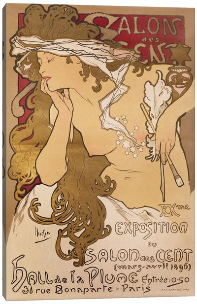 Salon des Cent, 1896 Canvas Art Print