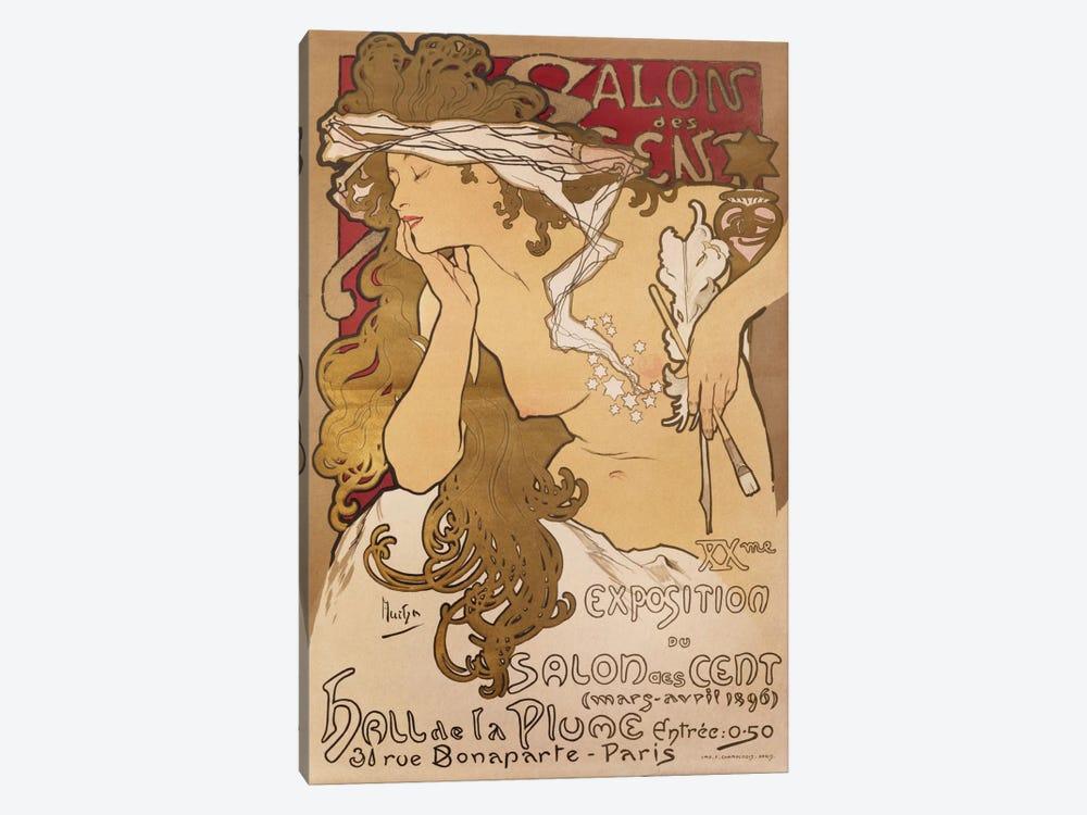 Salon des Cent, 1896 by Alphonse Mucha 1-piece Canvas Wall Art