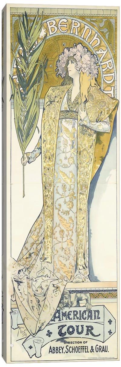Sarah Bernhardt, American Tour, 1895 Canvas Art Print