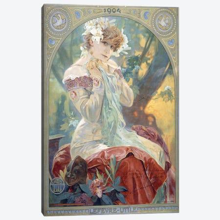 Sarah Bernhardt As La Princesse Lointaine (Lefevre-Utile Biscuit Co. Advertisment), 1904 Canvas Print #BMN6632} by Alphonse Mucha Canvas Art