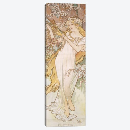 Spring (Printemps), c.1896 Canvas Print #BMN6633} by Alphonse Mucha Canvas Art