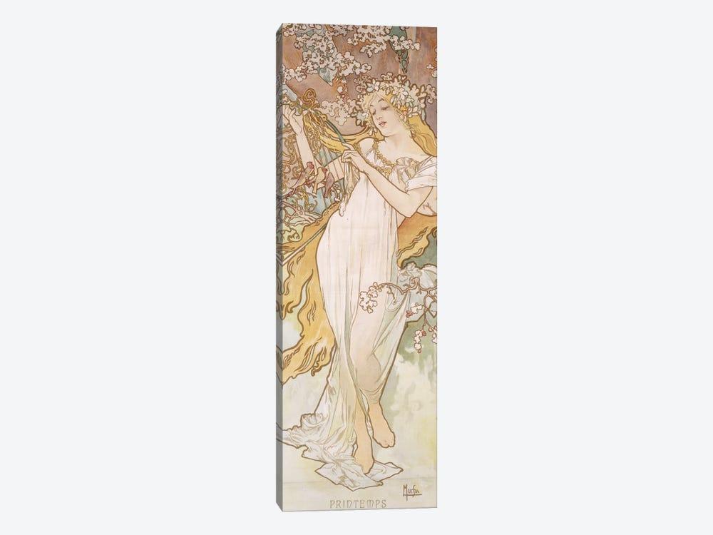 Spring (Printemps), c.1896 by Alphonse Mucha 1-piece Canvas Print