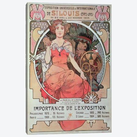 1904 World Fair (St. Louis, United States) Advertisement 3-Piece Canvas #BMN6634} by Alphonse Mucha Art Print