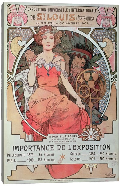 1904 World Fair (St. Louis, United States) Advertisement Canvas Art Print
