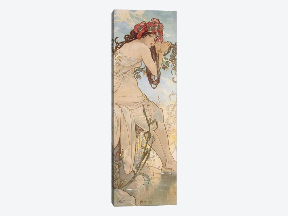 Summer (Ete), c.1896 by Alphonse Mucha 1-piece Canvas Art Print