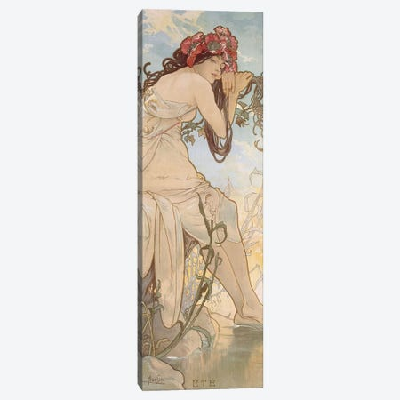 Summer (Ete), c.1896 Canvas Print #BMN6635} by Alphonse Mucha Canvas Print