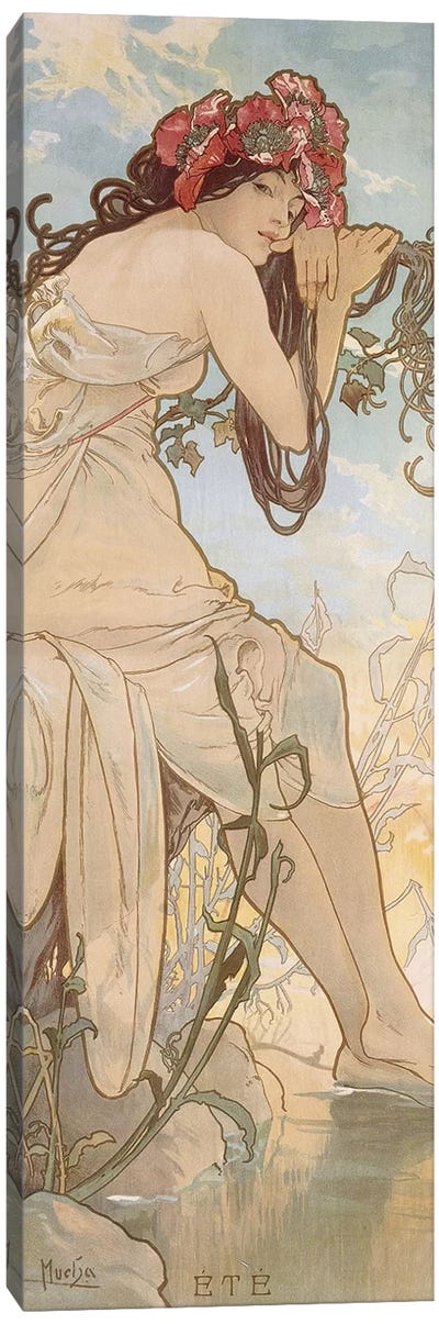 Summer (Ete), c.1896 Canvas Art Print