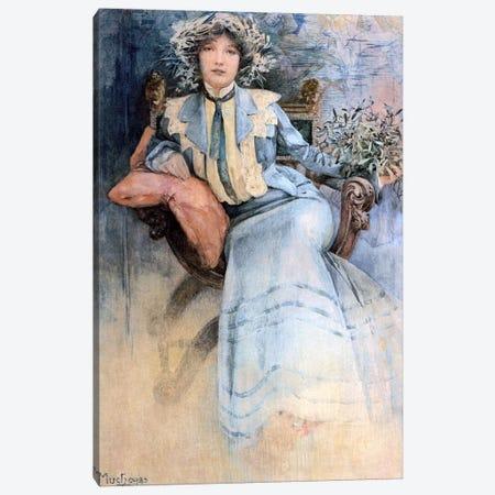 The Artist's Wife, 1903 Canvas Print #BMN6636} by Alphonse Mucha Canvas Art Print