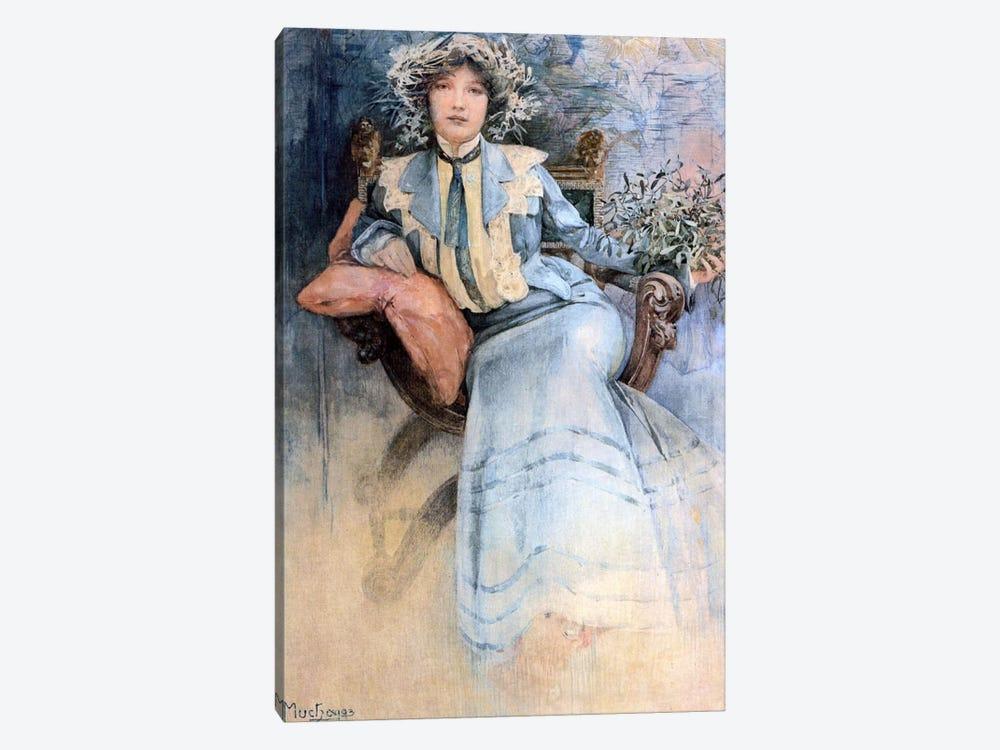 The Artist's Wife, 1903 by Alphonse Mucha 1-piece Canvas Art