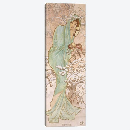 Winter (Hiver), c.1896 Canvas Print #BMN6637} by Alphonse Mucha Canvas Print