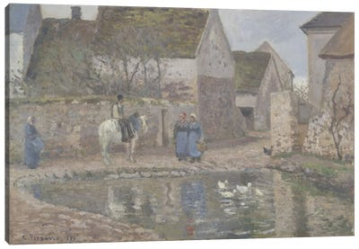 A Pond In Ennery, 1874 Canvas Art Print