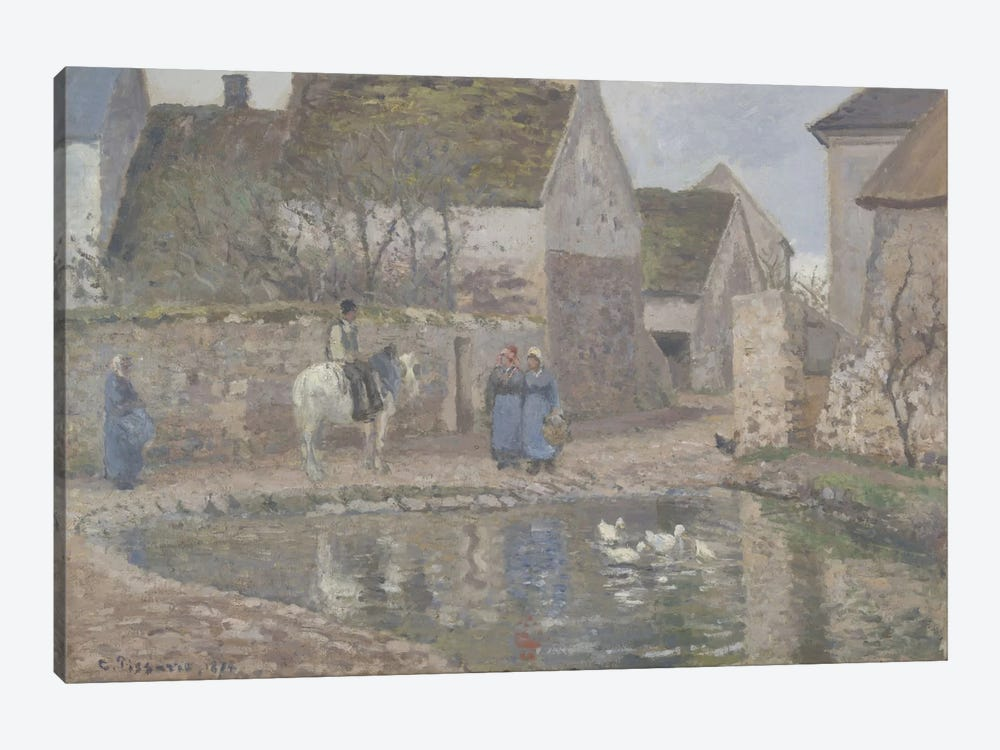 A Pond In Ennery, 1874 by Camille Pissarro 1-piece Canvas Art Print