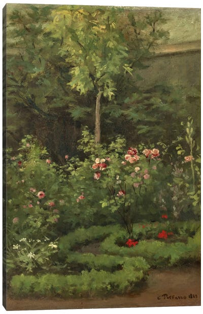 A Rose Garden, 1862 Canvas Art Print
