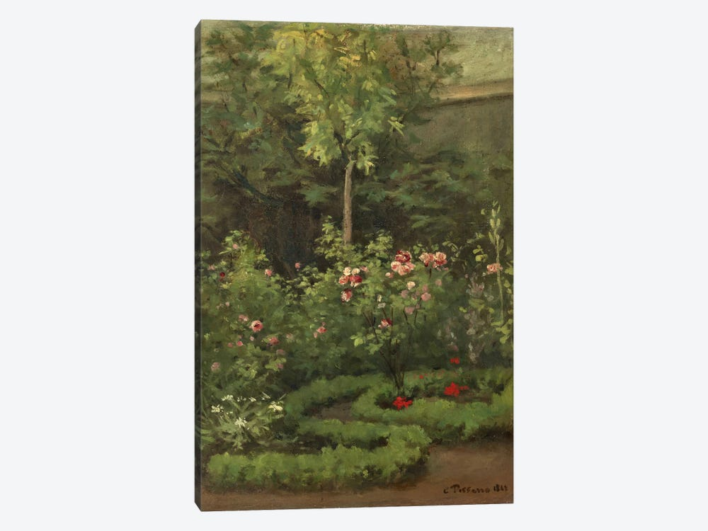 A Rose Garden, 1862 by Camille Pissarro 1-piece Canvas Art Print