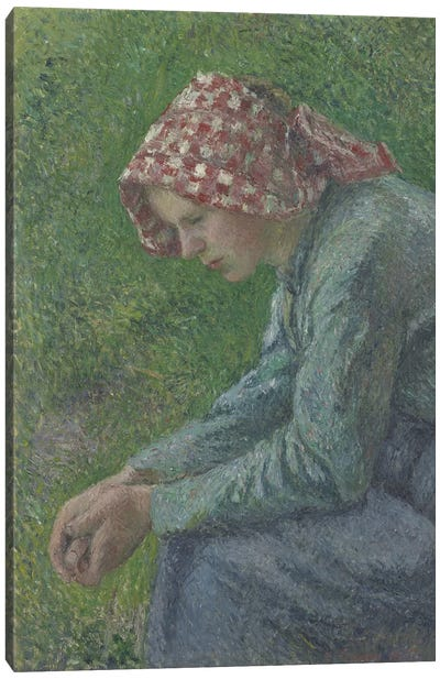 A Seated Peasant Woman, 1885 Canvas Art Print