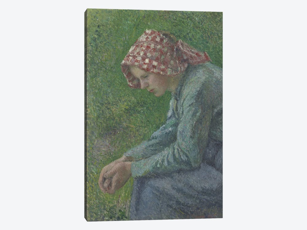 A Seated Peasant Woman, 1885 by Camille Pissarro 1-piece Canvas Artwork