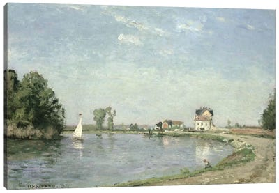 At The River's Edge, 1871 Canvas Art Print