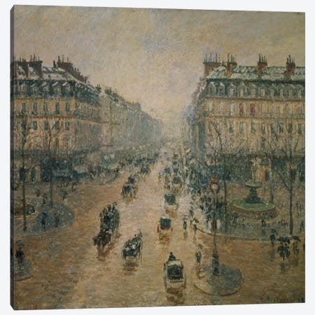 Avenue de l'Opera, Paris, 1898 Canvas Print #BMN6643} by Camille Pissarro Canvas Art Print