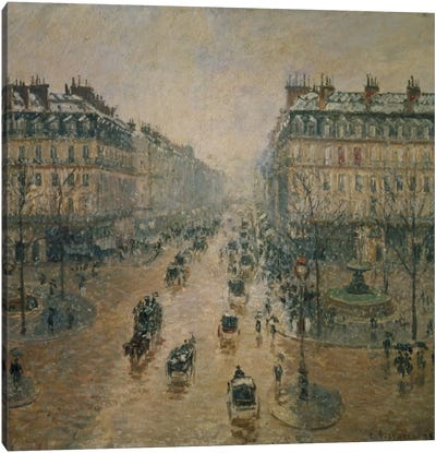 Avenue de l'Opera, Paris, 1898 Canvas Art Print