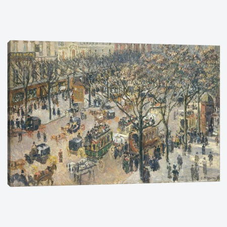 Boulevard des Italiens, Morning, Sunlight, 1897 Canvas Print #BMN6644} by Camille Pissarro Canvas Art
