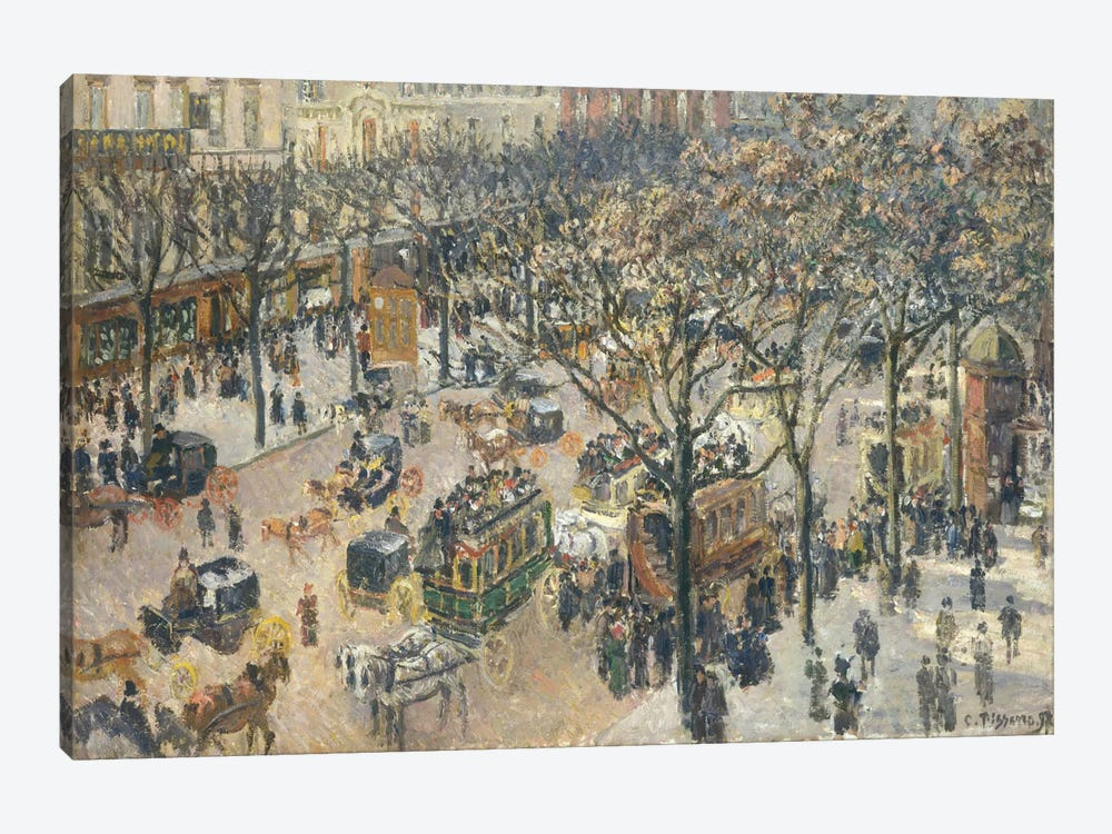 Boulevard des Italiens, Morning, Sunlight, 1897 by Camille Pissarro 1-piece Canvas Print