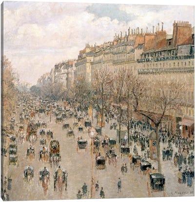 Boulevard Montmartre, Afternoon, Sun, 1897 Canvas Art Print