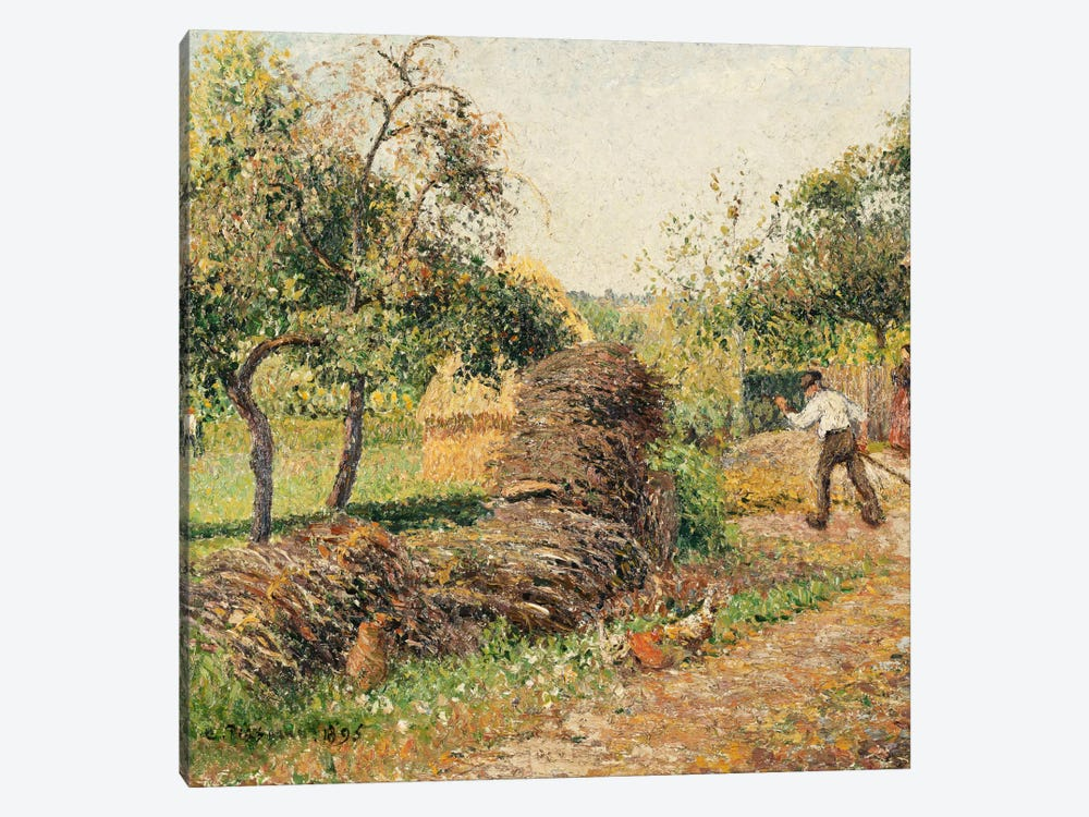 Court Of The Mother Lucien, Eragny, 1895 by Camille Pissarro 1-piece Canvas Artwork